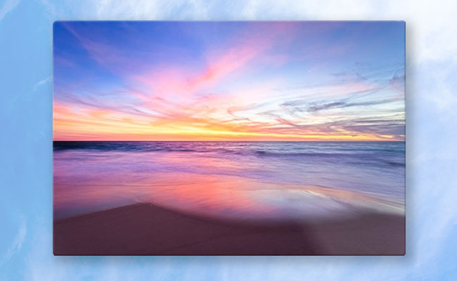 Aussie Sunset, Claytons Beach Metal Prints