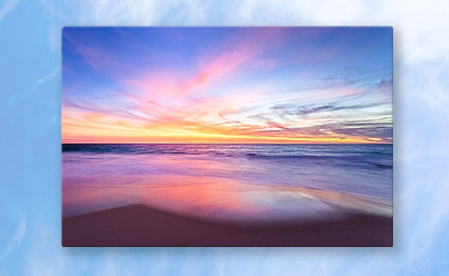 Aussie Sunset, Claytons Beach Photographic Print