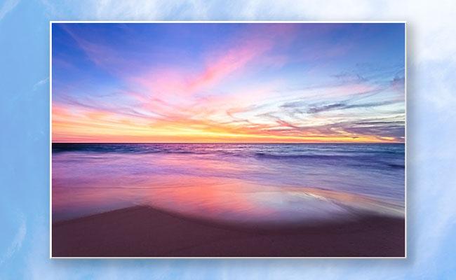 Aussie Sunset, Claytons Beach Poster